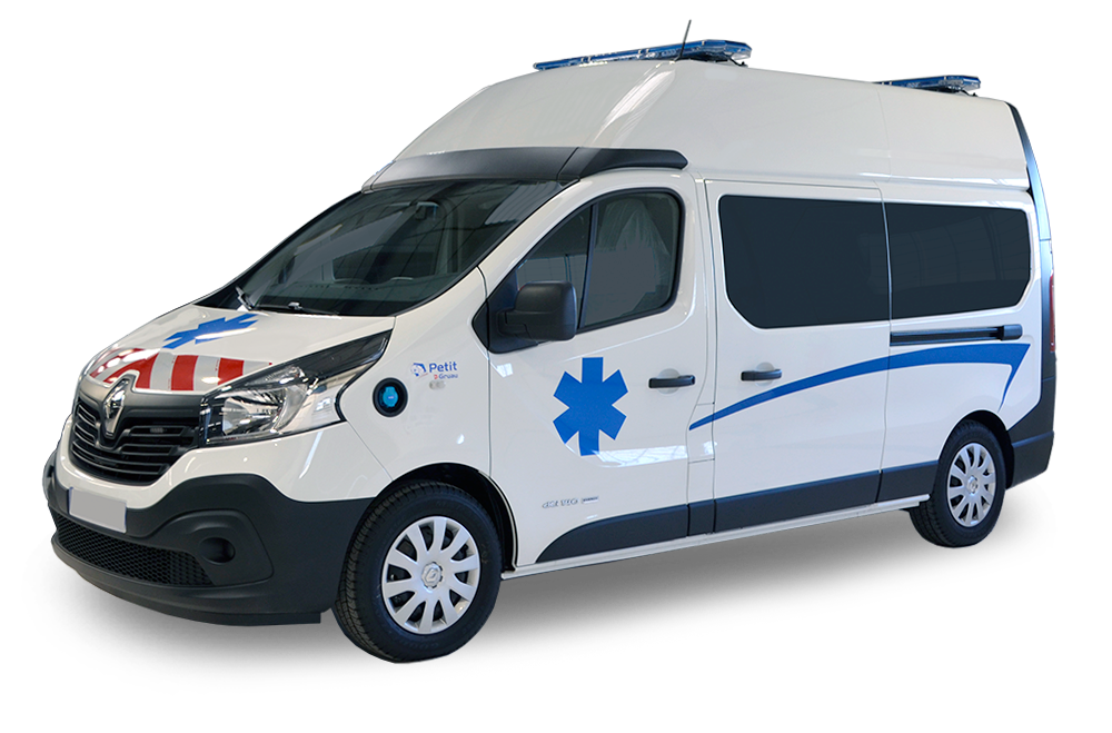 achat ambulance renault trafic l2h2 am nagement petit by gruau. Black Bedroom Furniture Sets. Home Design Ideas