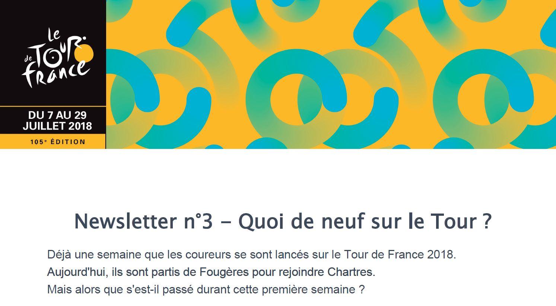 Newsletter TOUR DE FRANCE 2018